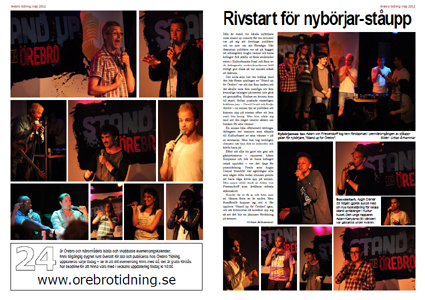 Standup for Örebro 2012